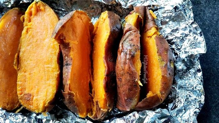 sweet potatoes baked for gluten-free sweet potato gnocchi