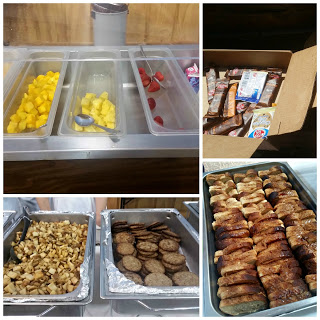 Gluten Free Camp meals prepared with donations from companies