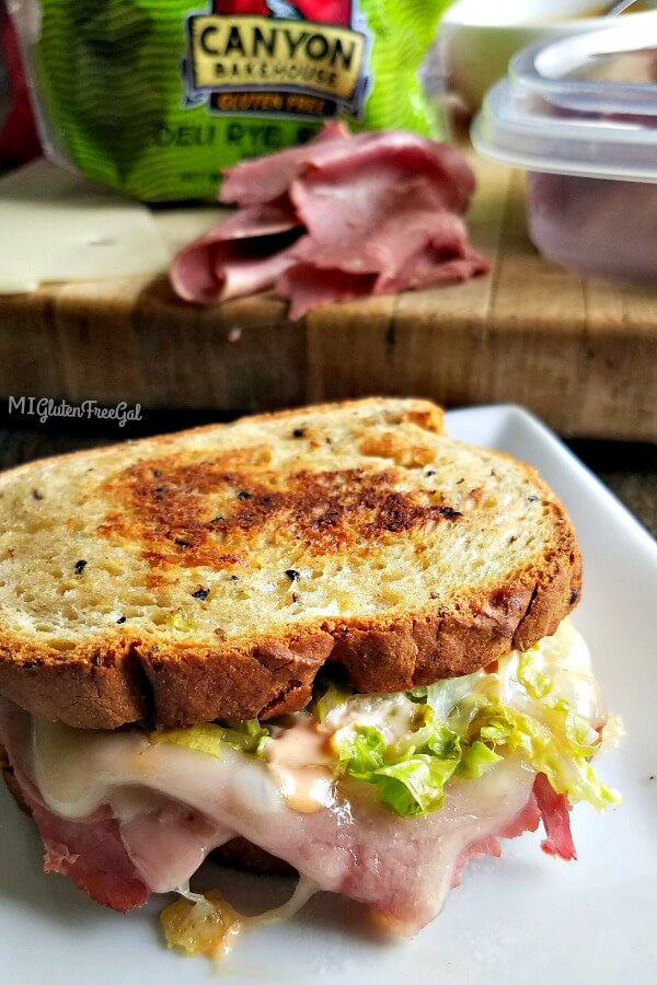 Reuben on Canyon Bakeouse Rye style bread