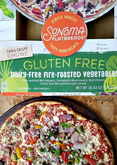 Sonoma Flatbreads has an AMAZING dairy-free gluten-free pizza!