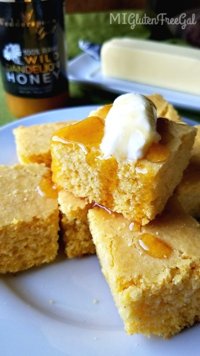 This gluten-free cornbread is good for breakfast, lunch and dinner!