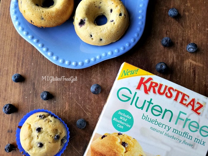 Krusteaz gluten-free products blueberry muffin mix