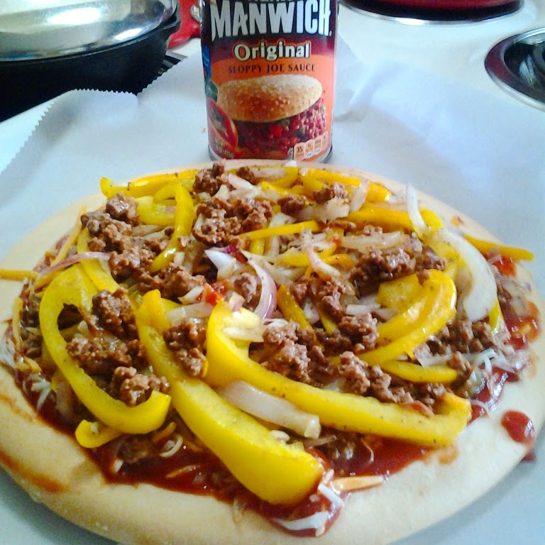 Schar gluten free pizza crusts sloppy joe pizza