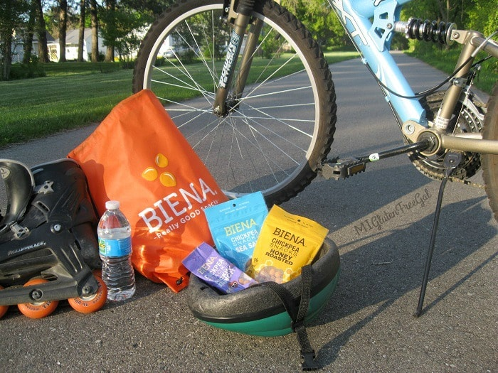 Take Biena Chickpeas on your next biking trip!
