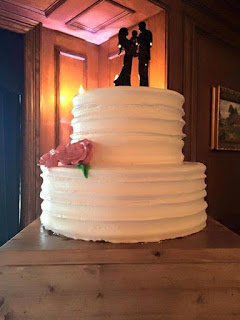 Wedding cake prepared by owner of Gluten Free Specialties