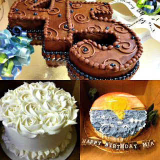Collage photo of gluten free cakes made by Third Coast Bakery