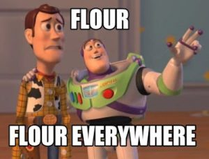 Flour Everywhere Meme