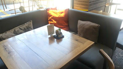 Wheat's End Cafe table
