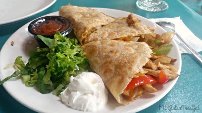 Atrium Cafe Gluten Free Quesadilla