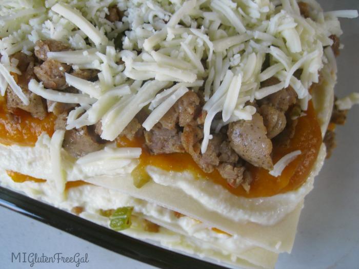 gluten-free butternut squash lasagna final layer
