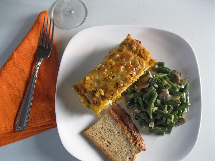 gluten-free butternut squash lasagna with goblet