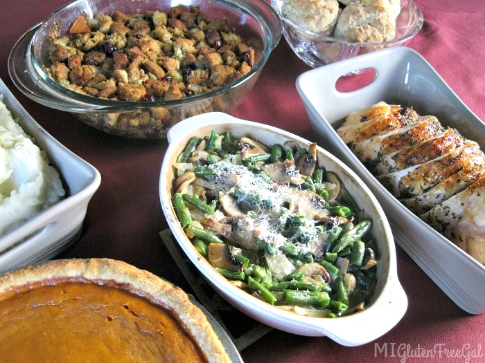 american gluten free thanksgiving spread