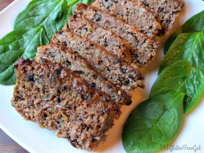 gluten-free meatloaf on platter