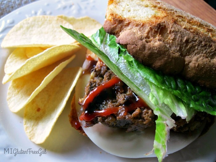 gluten-free meatloaf with chips