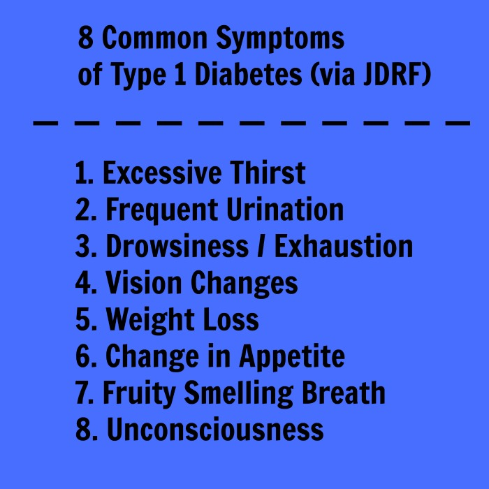 8 common symptoms of type 1 diabetes