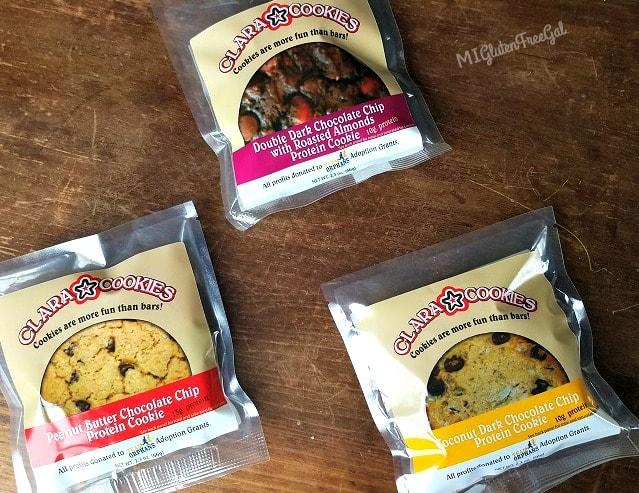 Assortment of Clara Cookies gluten-free flavors
