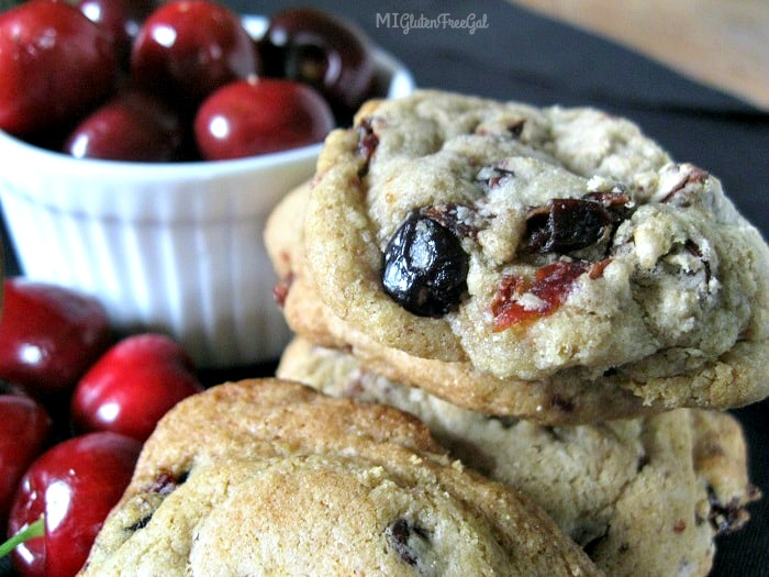 gluten-free cherry chocolate chunk cookies represent Michigan agriculture