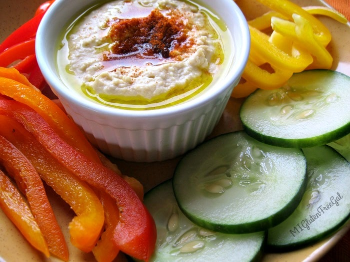 Hummus is a perfect dip for fresh vegetables