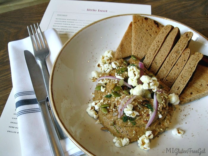 little beet table cauliflower hummus - MI Gluten Free Gal