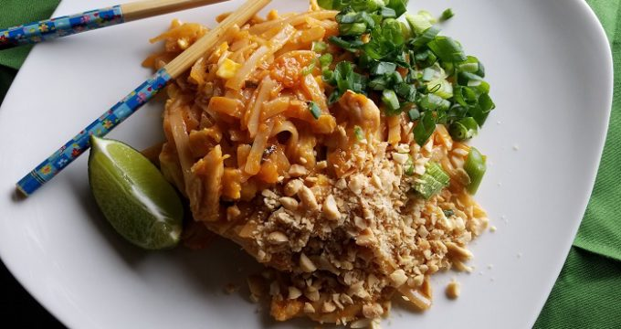 Gluten-Free Pad Thai with Goldbaum's Fettuccine