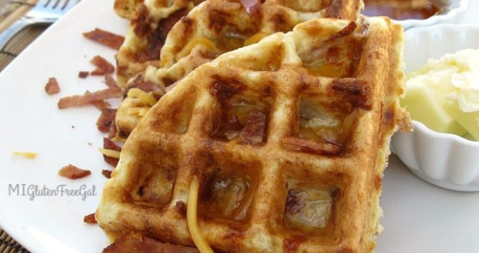 Gluten-Free, Pork-Free Grits and Bits Waffles