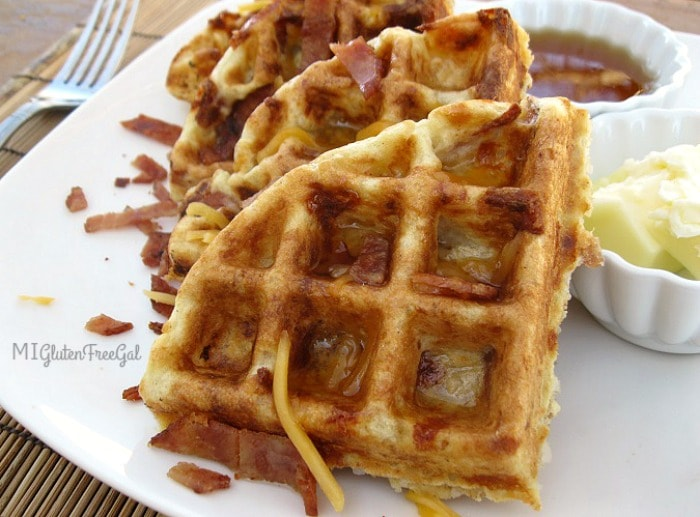 Gluten-Free Grits and Bits Waffles