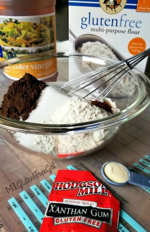 gluten-free vegan chocolate cake ingredients and xanthan gum