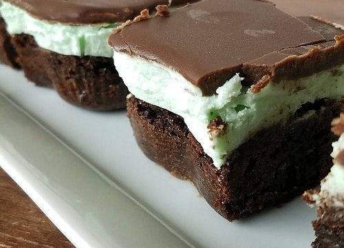Gluten-Free Triple Mint Brownies