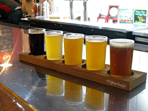 Alt Brew gluten-free beer flight