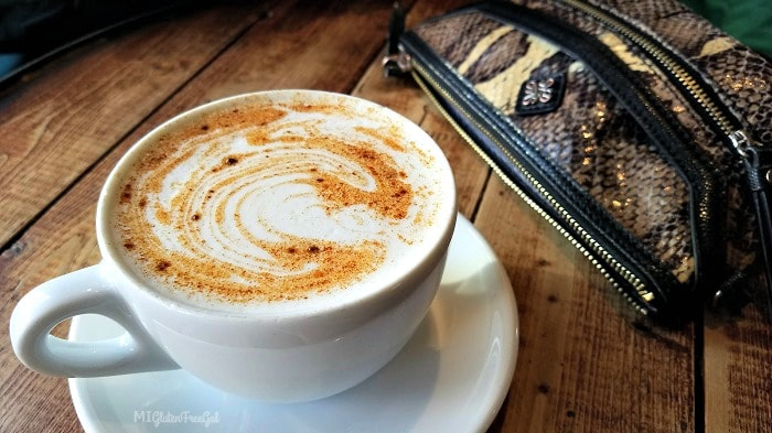 Our Sioux Falls Gluten-Free trip involved a new local coffee shop everyday. This chai latte at Coffea was beautiful.
