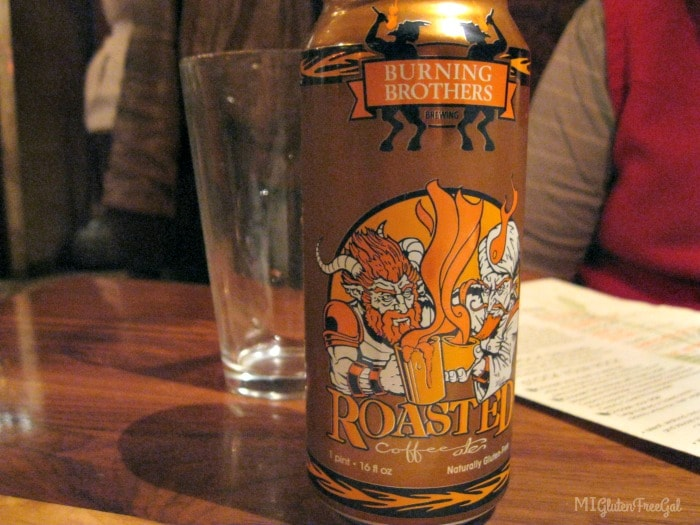 Minnesota's only 100$ gluten-free beer, Burning Brothers, available at Twigs Tavern and Grille