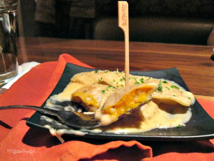 Award winning butternut squash ravioli at Twigs Tavern and Grille