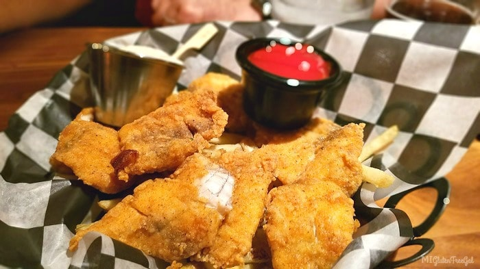 Gluten-free fish and chips at Twigs Tavern and Grille