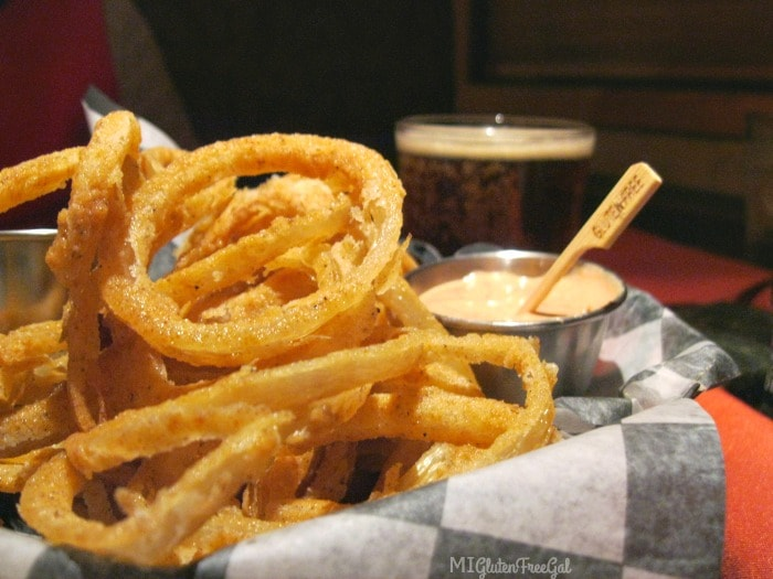 Gluten Free Onion Rings at Twigs Tavern and Grille