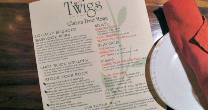 Twigs Tavern and Grille – Gluten-Free in Rochester, Minnesota