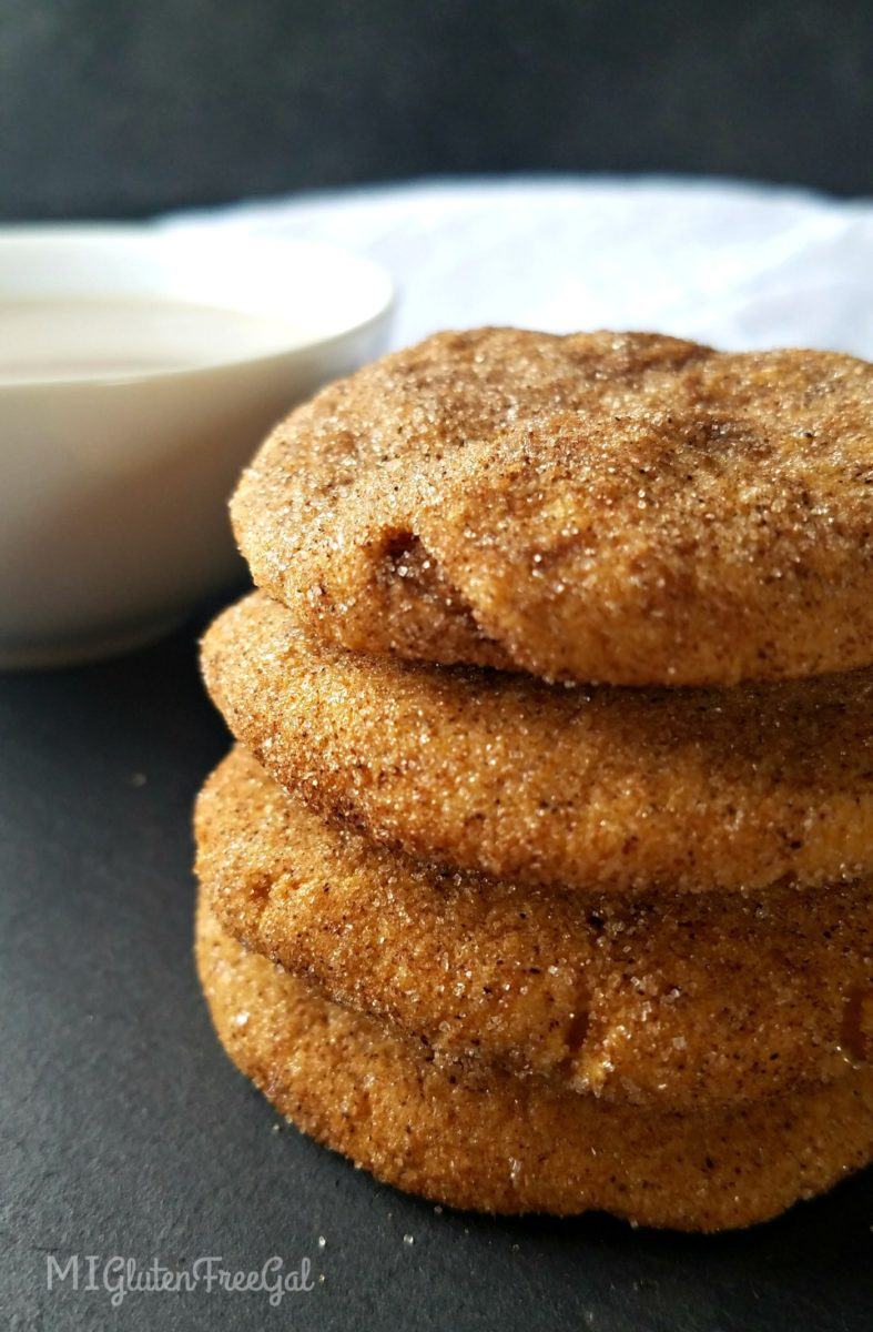 gluten-free pumpkin chai snickerdoodles stacked