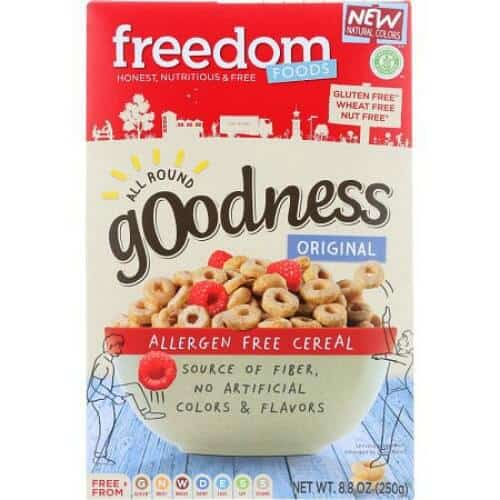 gluten free alternatives to Cheeriosl Freedom Foods All Round Goodness