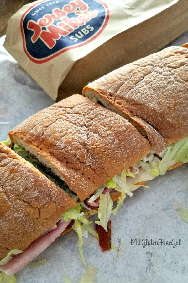 This Jersey Mike's gluten free Sub is large and delicious!