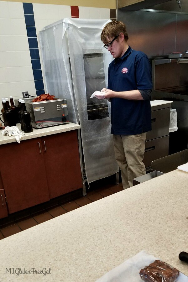 Prior to making your Jersey Mike's gluten free Sub,, staff should wash hands and change gloves.