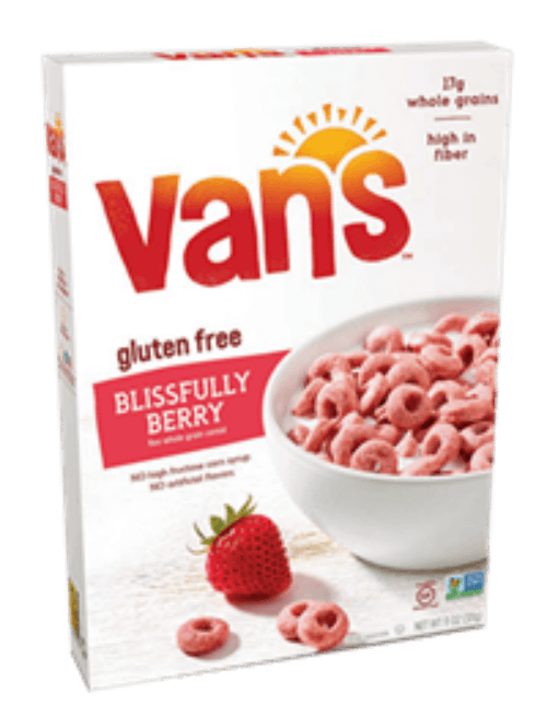 gluten free alternatives to Cheerios Van's Blissfully Berry