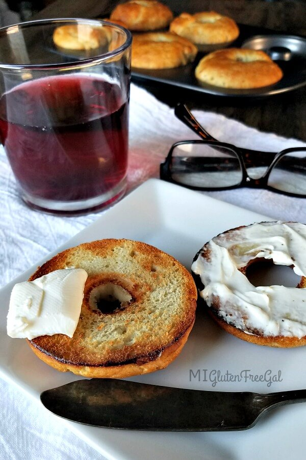 These easy gluten-free bagels are a great start to the morning