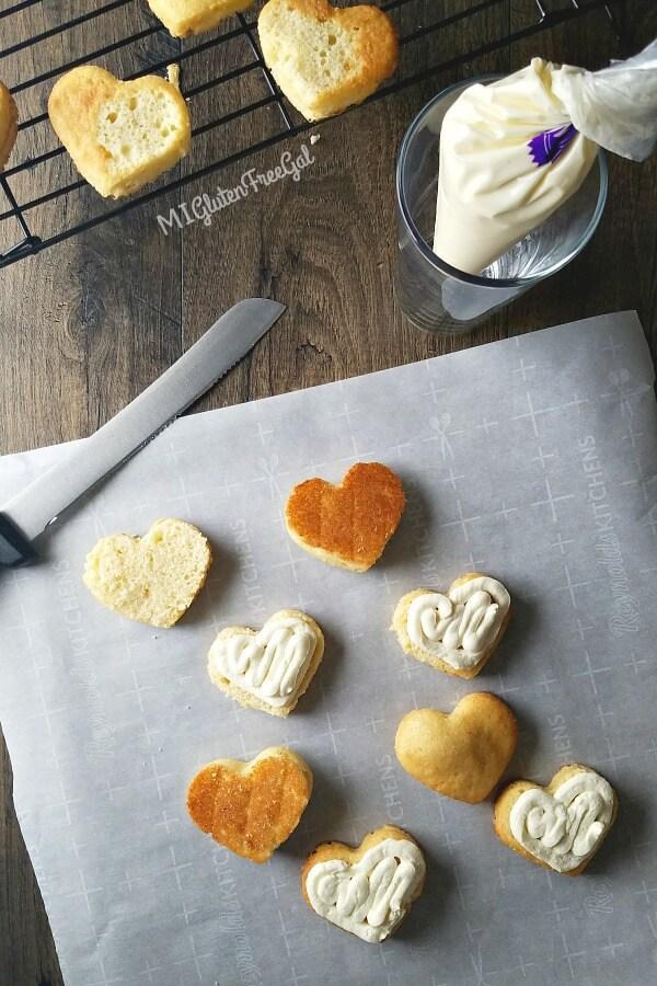 Gluten Free Little Debbie Valentine Cake Filled Overhead (1