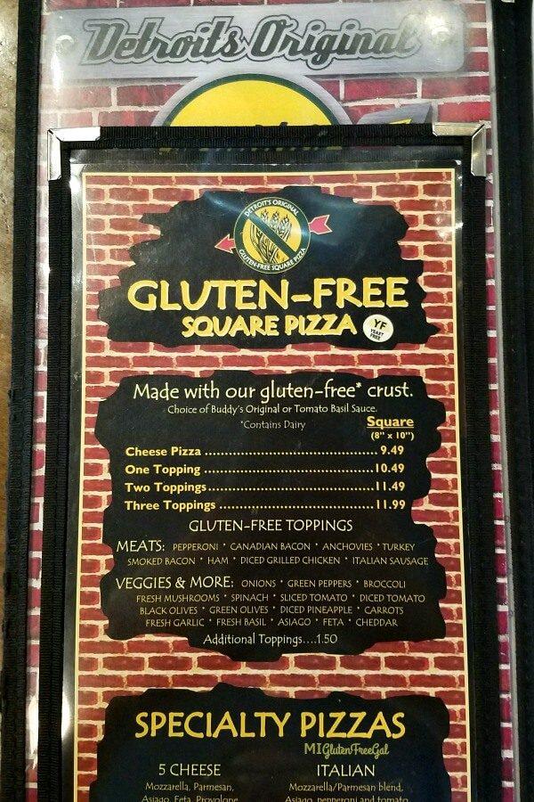 Buddy's Pizza - Gluten Free Detroit Style Pizza - MI Gluten