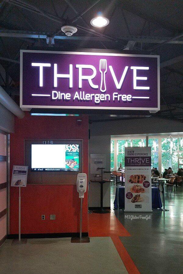Thrive Michigan State University Top 8 allergen free dining hall
