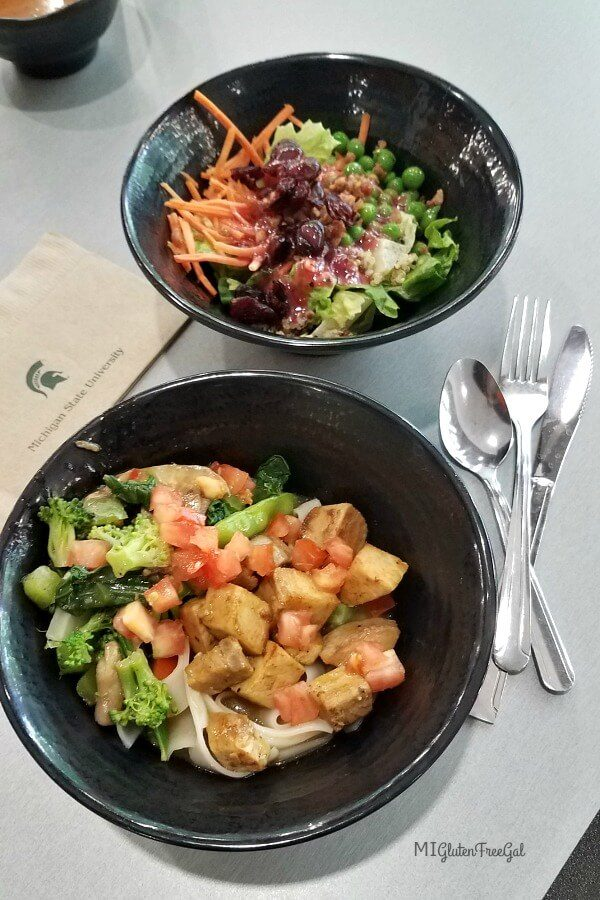 thrive dining hall noodle bowl