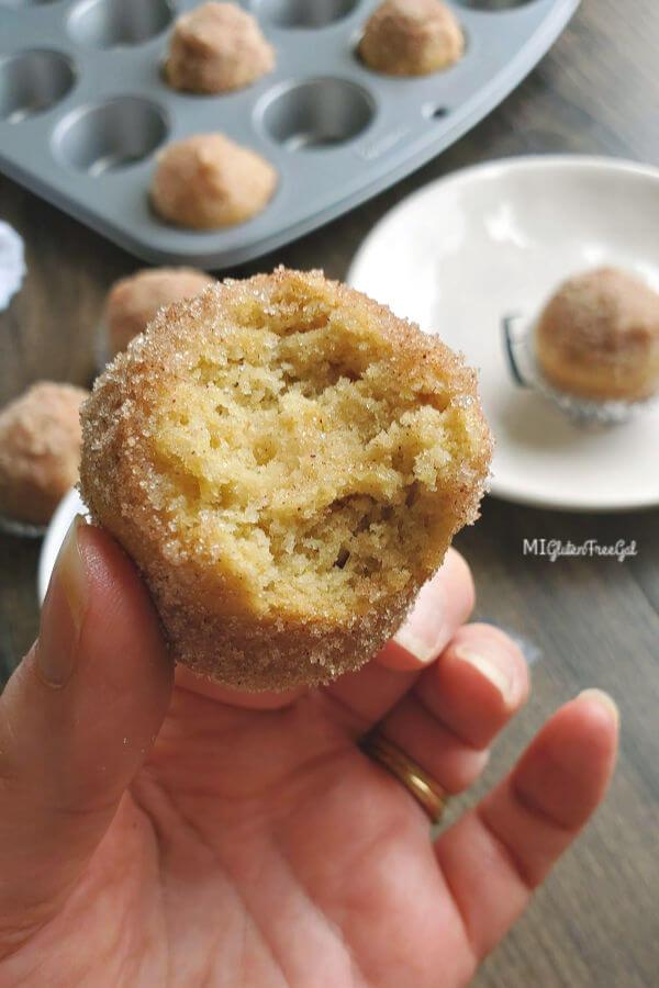 bite size gluten free donut muffins bite taken