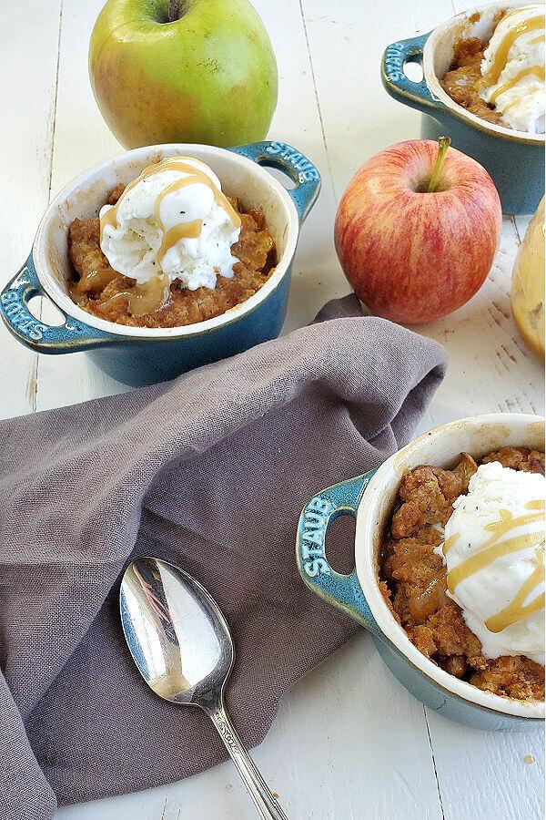 Gluten Free Apple Crisp for Two (Oat Free)